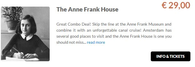 Anne Frank House Tickets GO Dutchtrave