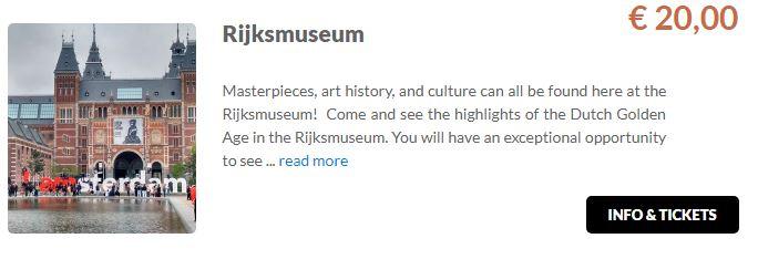 Rijksmuseum Tickets GO Dutchtravel