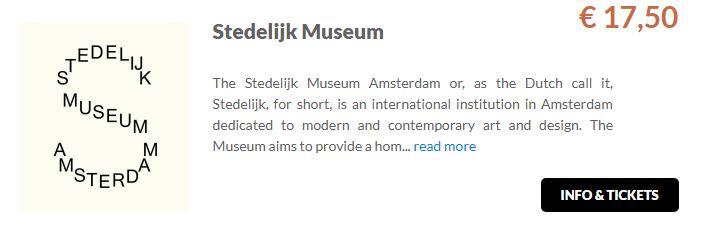 Stedelijk Museum Tickets GO Dutchtravel