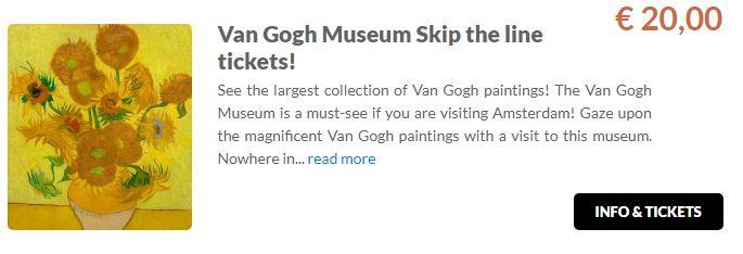 Van Gogh museum Tickets GO Dutchtravel
